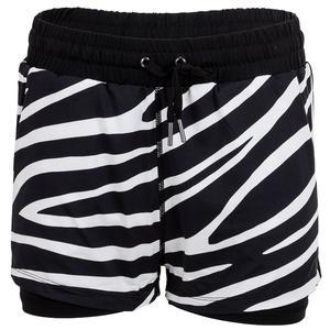 Women`s Rivka 4 Inch Tennis Short Wild Zebra