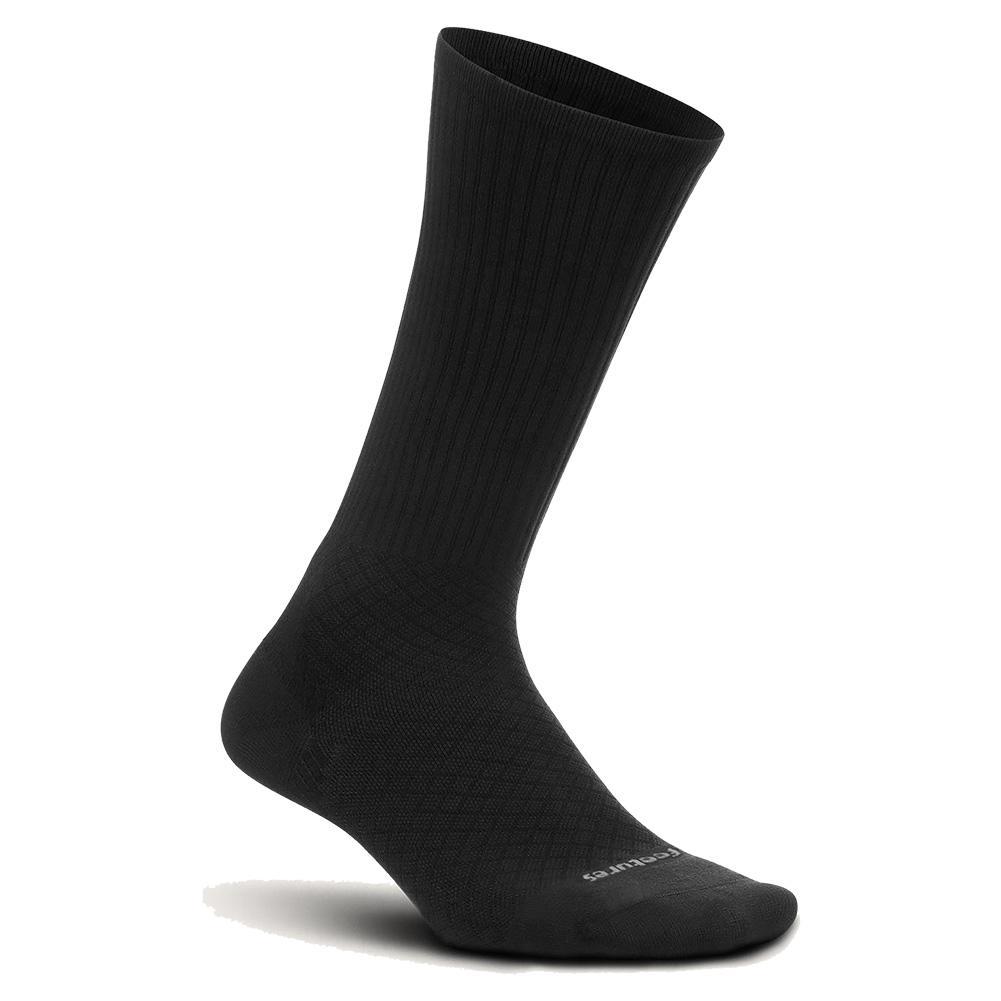 Plantar Fasciitis Relief Cushion Crew Socks Black