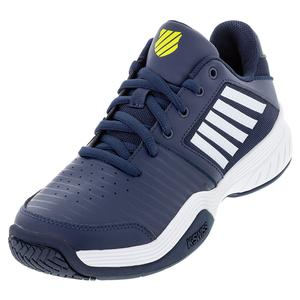 Men`s Court Express Tennis Shoes Moonlit Ocean and White