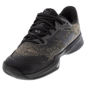 Men`s Jet Mach 3 All Court Wide Tennis Shoes Black Gold