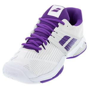 Women`s Propulse Fury All Court Tennis Shoes White Purple