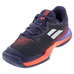 Juniors` Jet Mach 3 All Court Tennis Shoes Blue Ribbon