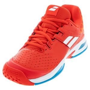 Juniors` Propulse All Court Tennis Shoes Cherry Tomato White