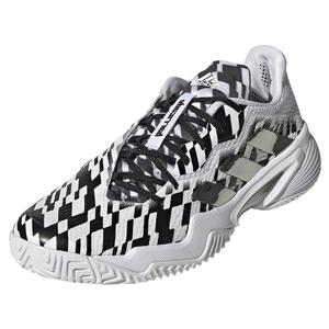 Men`s Barricade Tennis Shoes White and Core Black