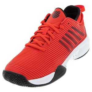 Men`s Hypercourt Supreme Tennis Shoes Poppy Red and White