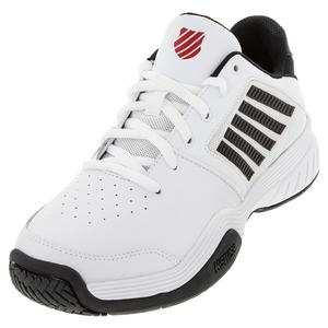 Men`s Court Express Tennis Shoes White and Black