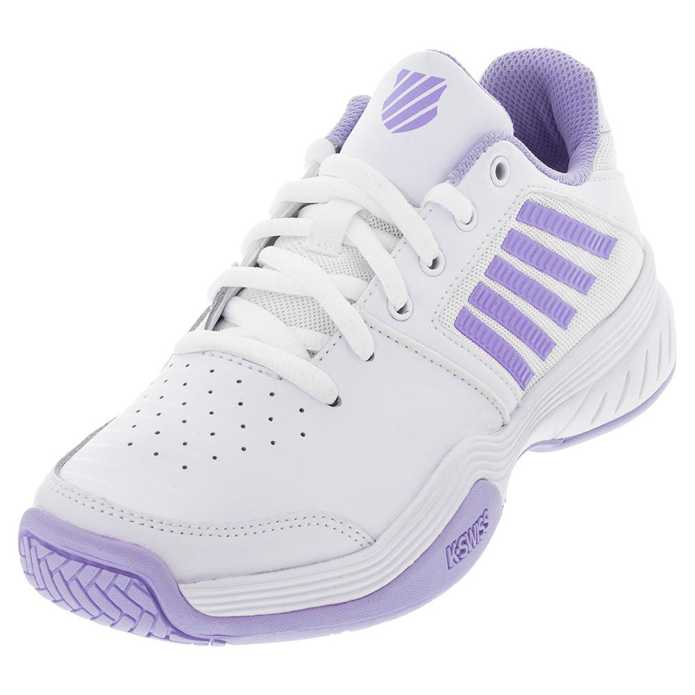 Women's Court Express Tennis Shoes White And Purple Heather