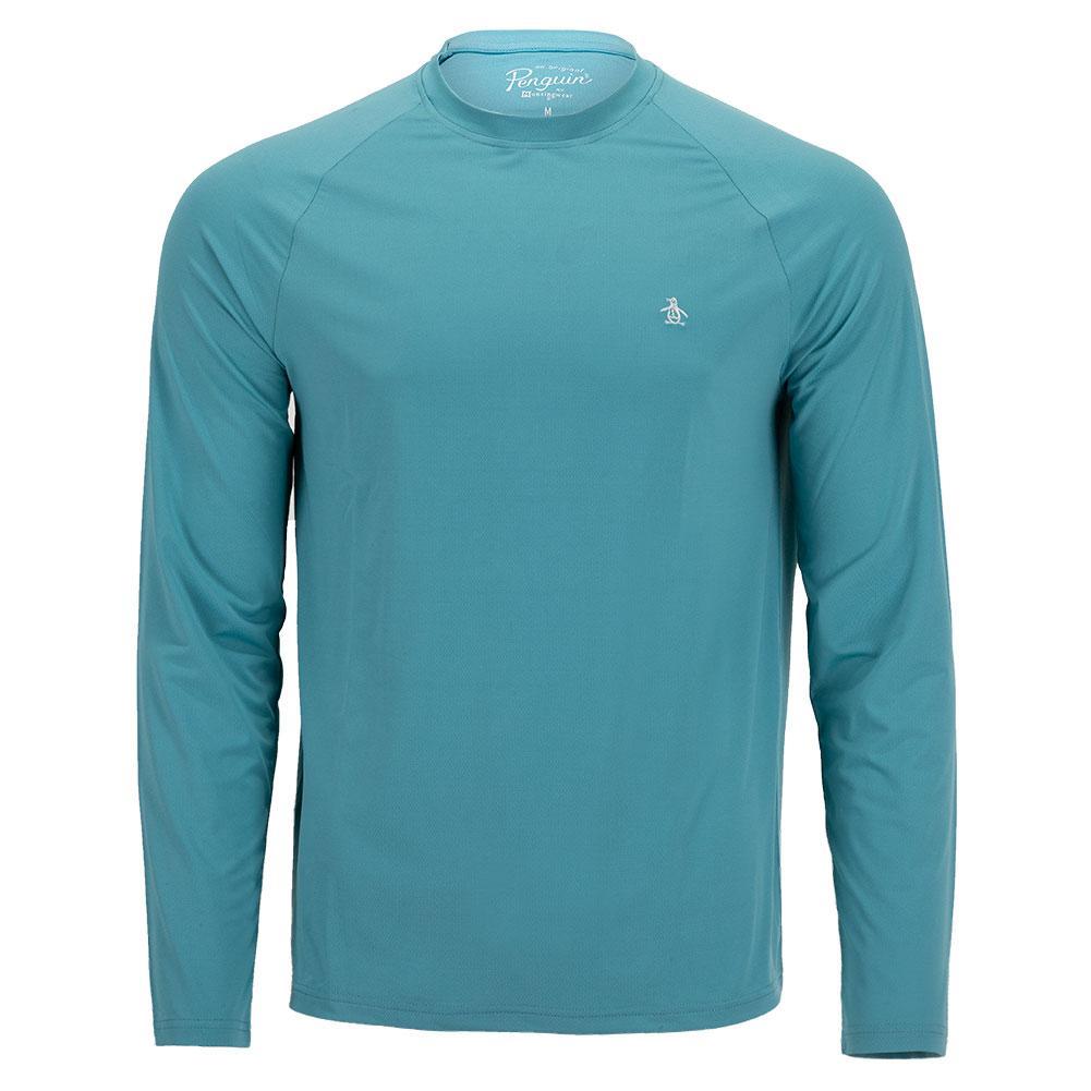 Men's Raglan Long Sleeve Tennis Pull Over Delphinium Blue