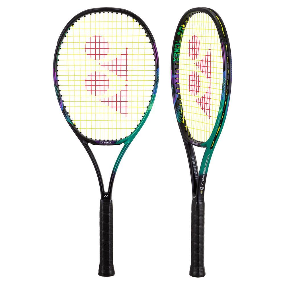 Vcore Pro 100 Demo Tennis Racquet Green And Purple