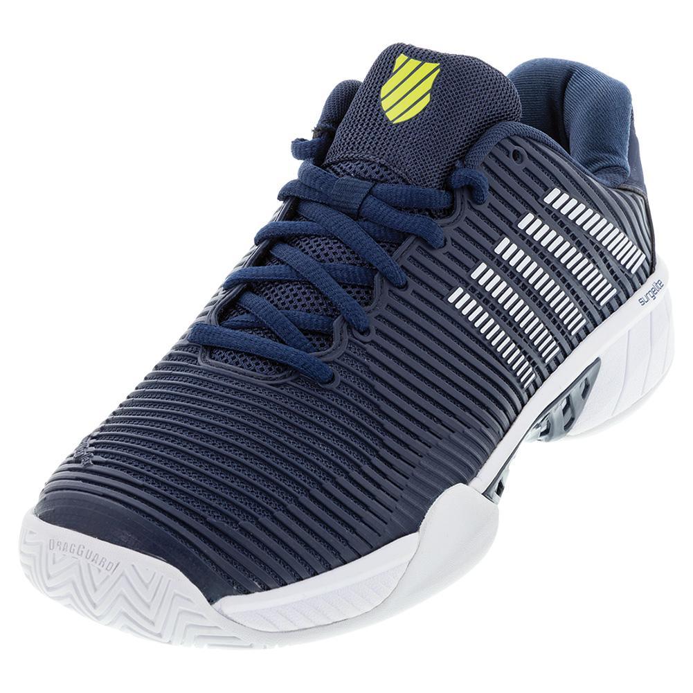 Men's Hypercourt Express 2 Wide Tennis Shoes Moonlit Ocean And White