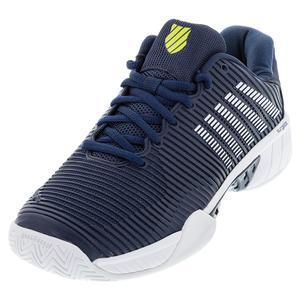 Men`s Hypercourt Express 2 Wide Tennis Shoes Moonlit Ocean and White