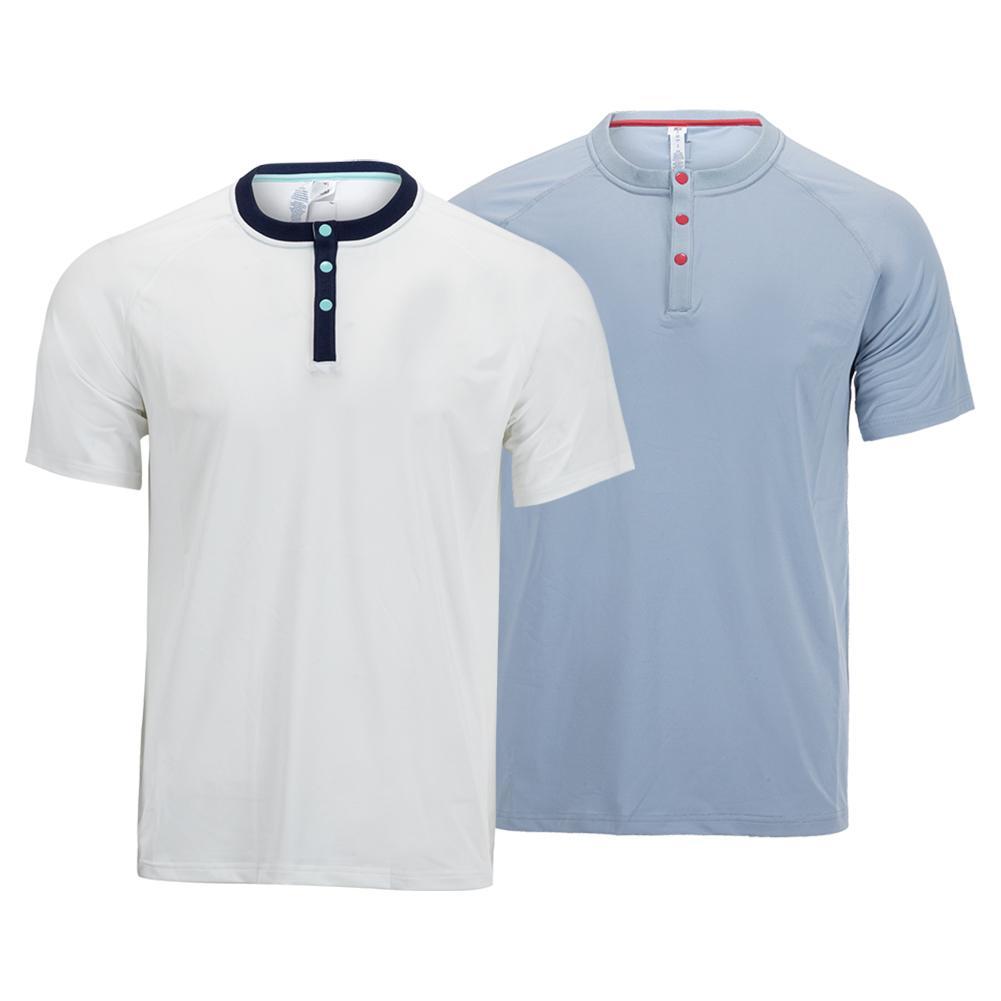 Men's Cross Court Short Sleeve Tennis Henley
