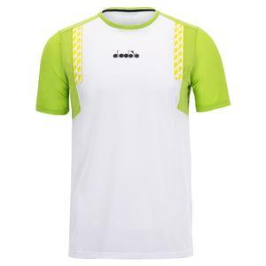 Men`s Clay Short Sleeve Tennis Top Optical White