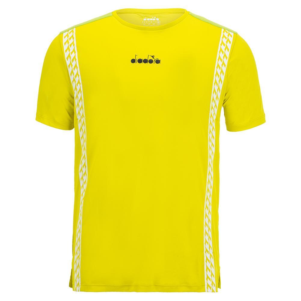 Men's Challenge Short Sleeve Tennis Top Green Spring