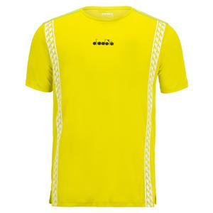 Men`s Challenge Short Sleeve Tennis Top Green Spring