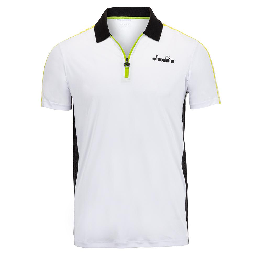 Men's Challenge Tennis Polo White And Black