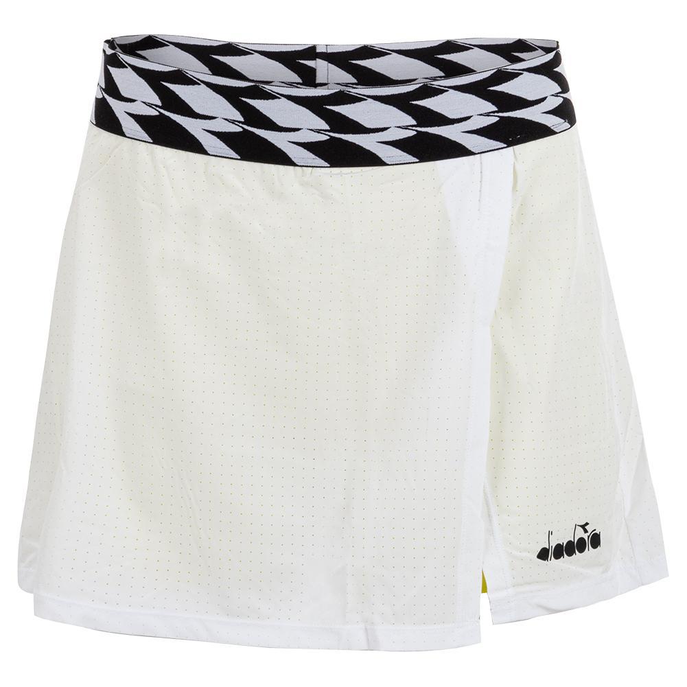 Women's Mesh Tennis Skort Optical White