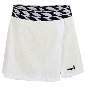 Women`s Mesh Tennis Skort Optical White