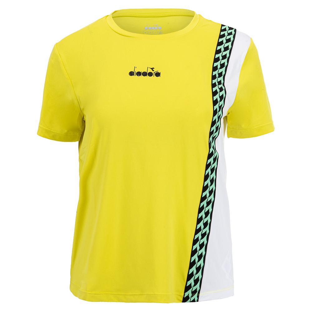 Women's Challenge Short Sleeve Tennis Top Green Spring