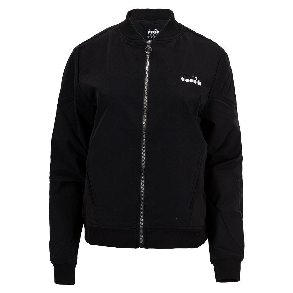 Women's Challenge Full Zip Tennis Jacket Black