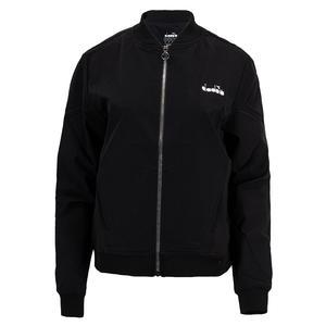 Women`s Challenge Full Zip Tennis Jacket Black