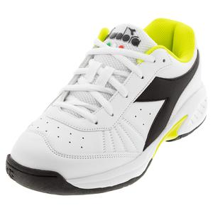Juniors` S. Challenge 3 SL Tennis Shoes White and Black