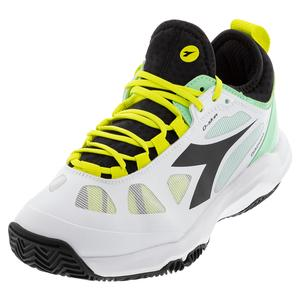 Women`s Speed Blushield Fly 3 Plus Clay Tennis Shoes White and Black
