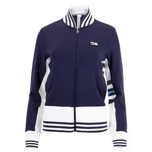 Women`s 110 Year Tennis Jacket Navy and White