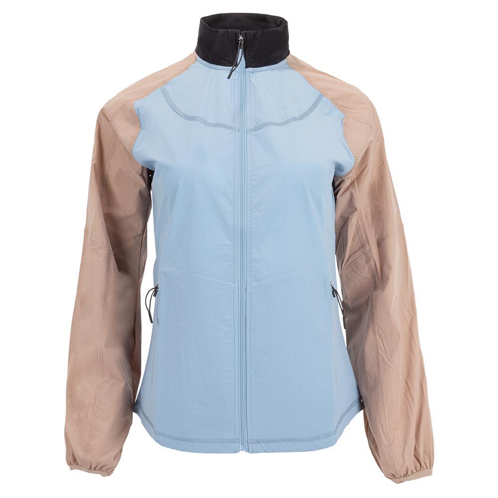 Women's Wild Card Tennis Jacket Dusk Blue And Stucco