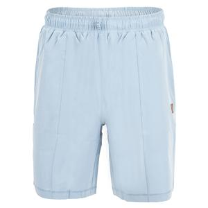 Men`s Cross Court Solid Tennis Short Blue Fog
