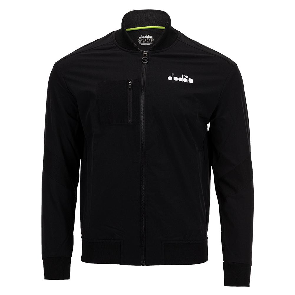 Men's Challenge Full Zip Tennis Jacket Black