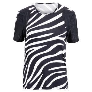 Women`s Katy Short Sleeve Tennis Top Wild Zebra