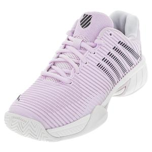 Juniors` Hypercourt Express 2 Tennis Shoes Orchid Ice and Black