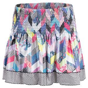 Women`s Long Mix N` Patch Smocked Tennis Skort Multicolor