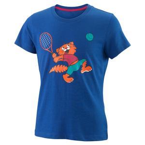 Girls` Tabby Tech Tennis Tee Mazarine Blue
