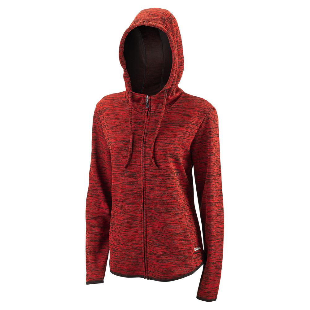 Women's Hooded Training Jacket Ii Black And Wilson Red