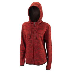 Women`s Hooded Training Jacket II Black and Wilson Red