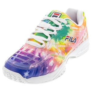 Juniors` Axilus 2 Tennis Shoes Tie Dye and White
