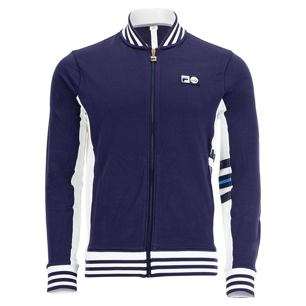 Men's 110 Year Tennis Jacket Navy And White