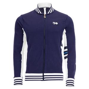Men`s 110 Year Tennis Jacket Navy and White