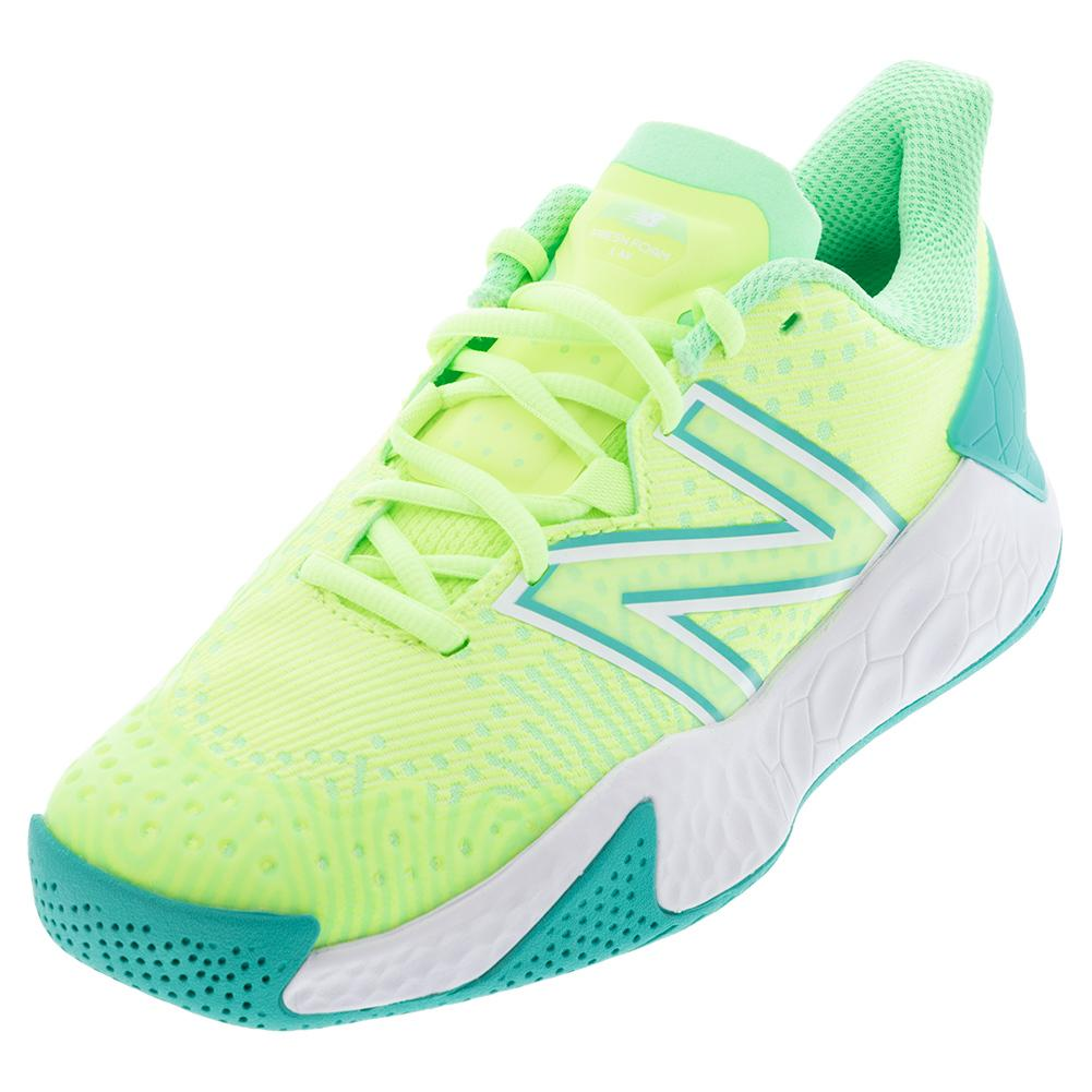 Women's Fresh Foam Lav V2 B Width Tennis Shoes Bleached Lime Glo And Agave