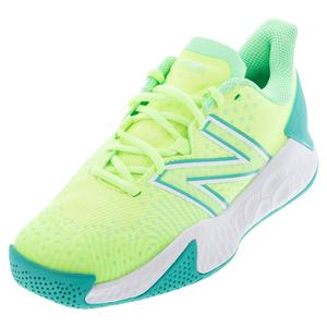 Women`s Fresh Foam Lav V2 B Width Tennis Shoes Bleached Lime Glo and Agave