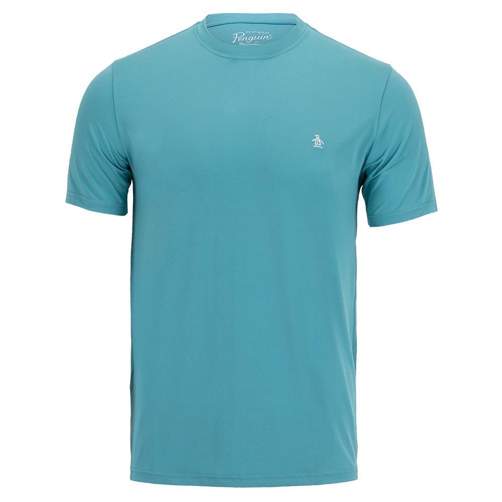 Men's Short Sleeve Tennis Crew Delphinium Blue