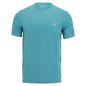 Men`s Short Sleeve Tennis Crew Delphinium Blue