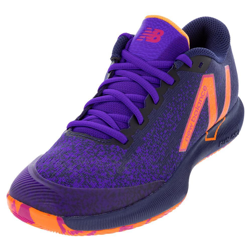 Men's Fuelcell 996v4.5 D Width Tennis Shoes Black And Deep Violet