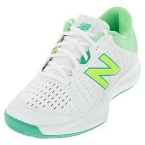 Women`s 696v4 D Width Tennis Shoes White and Agave