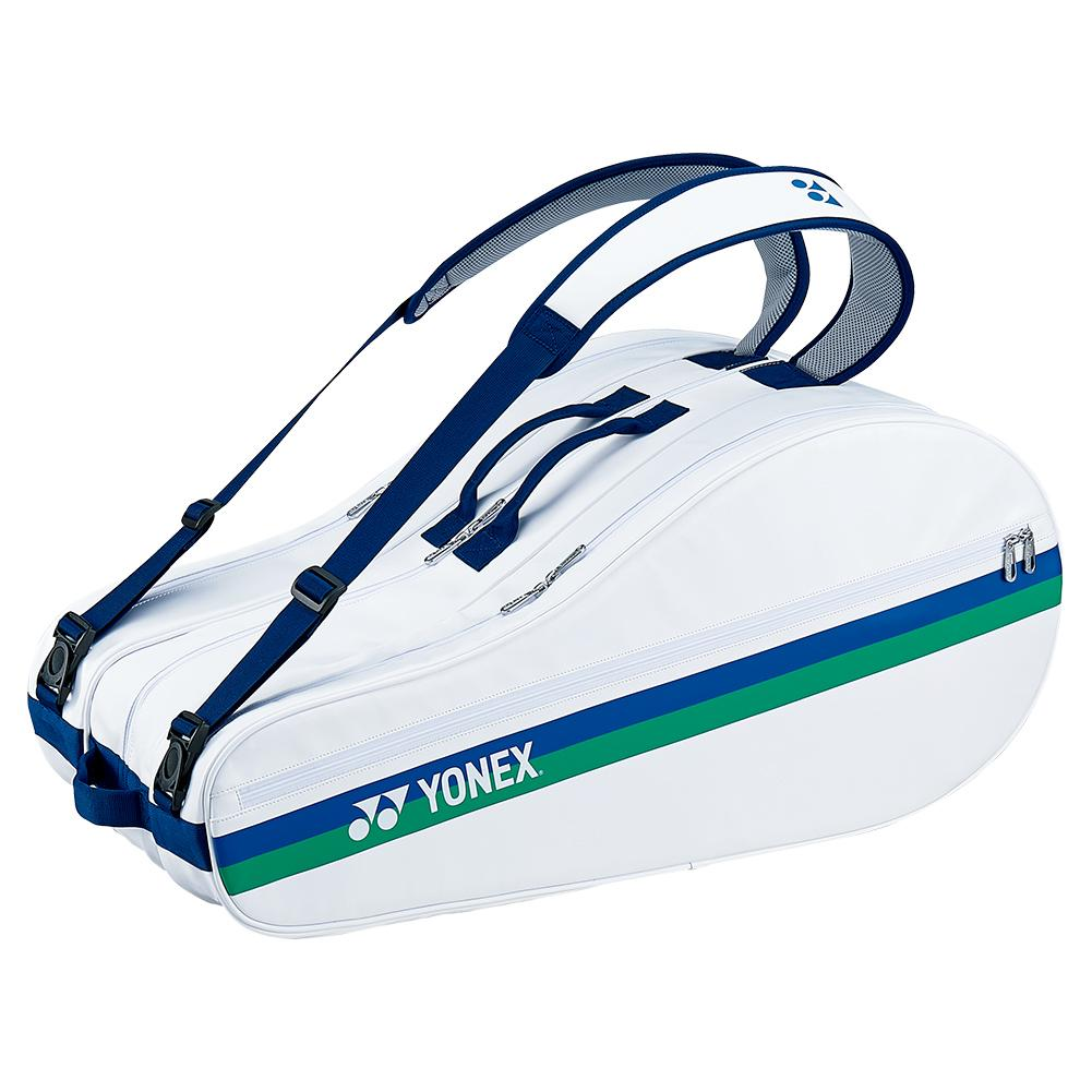 75th Elite 9 Pack Tennis Bag White And Blue