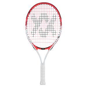 Juniors` Revolution 23 Prestrung Tennis Racquet White and Hot Pink