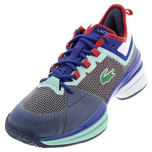 Men`s AG-LT 21 Ultra Tennis Shoes White and Light Blue