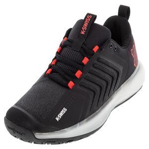 Men`s Ultrashot 3 Tennis Shoes Black and White
